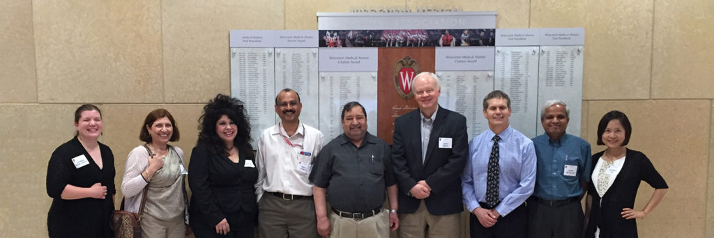 UW SDRC leaders with invited speaker Dr. Angela Christiano (third from left).