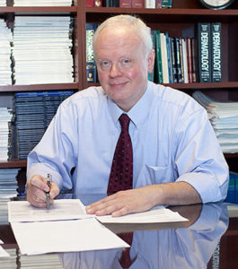 Picture of Gary S. Wood, MD at his desk